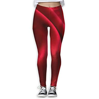 cc752071d527f Amazon.com: Yuotry Yoga Pants Red Fabric Silks and Satin Women Power Yoga  Pants Workout Yoga Capris Pants Leggings: Clothing