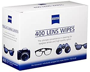 Zeiss Pre Moistened Lens iGdWPQ Cleaning Wipes 400 Count (Pack of 2)