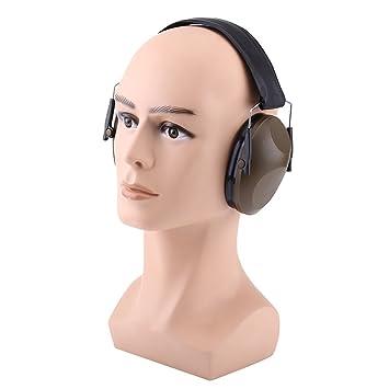 Orejas de Cancelación de Ruido Orejeras Acústicas de Protección Protectores Auditivos Defensores del Oído para Trabejo de Construcción Caza Disparos(Verde ...