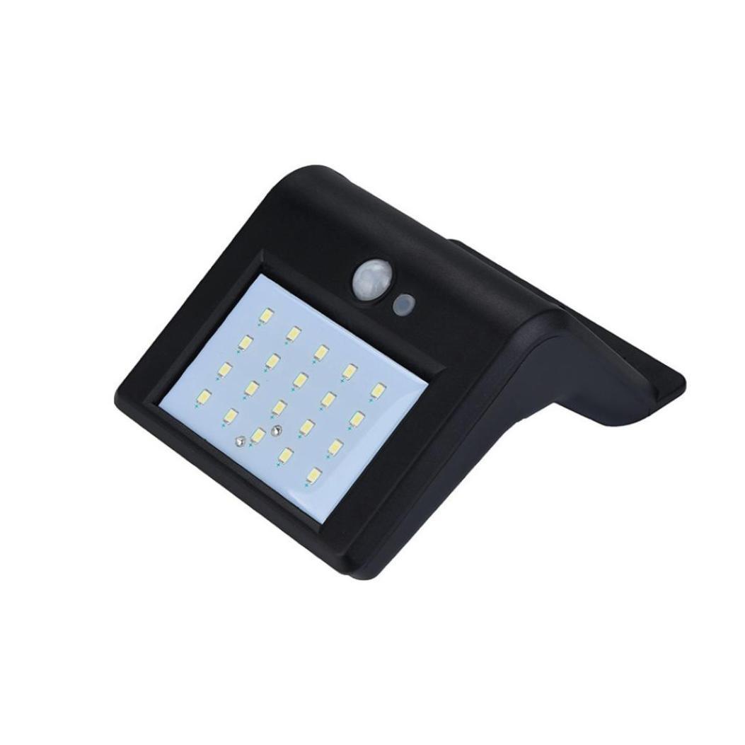Pausseo 4Pcs LED Solar Light Powered Wall Light Motion Sensor Outdoor Garden Security Lamp Motion Sensor Solar Lights with Wide Lighting Area Solar Power Superbright Lamp Black