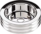 Billet Specialties 81320 Polished 3 Groove Water Pump Lower Pulley for Small Block Chevy