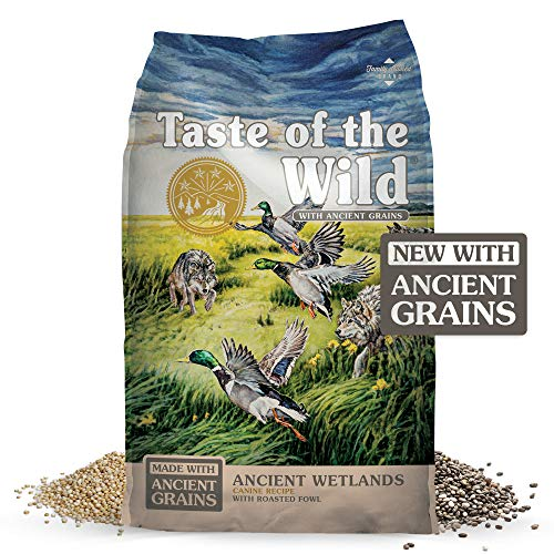 Taste of the Wild Ancient Wetlands Canine Recipe with Roasted Fowl & Ancient Grains 28lb (Call Wild Dog Food)