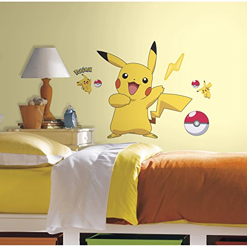 RoomMates Pokemon Pikachu Peel And Stick Wall (Roommates Wall Stickers)