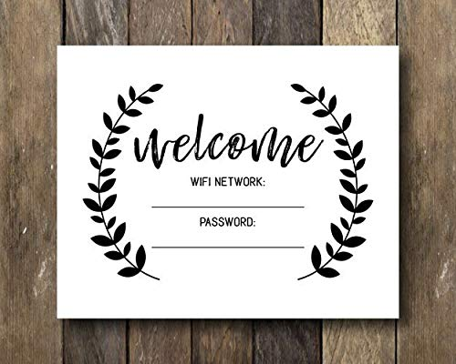 MosesMat41 WiFi Sign Printable The WiFi Password is Welcome WiFi Sign WiFi Password