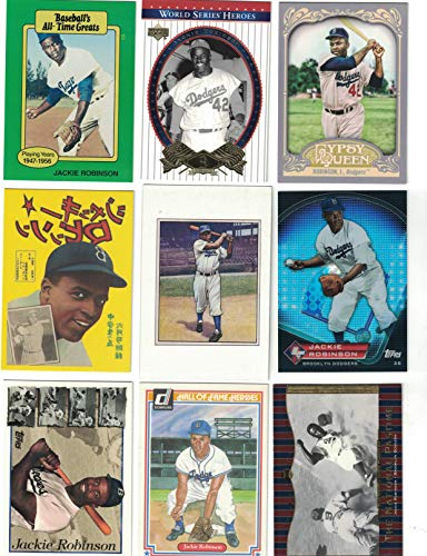 Jackie Robinson / 15 Different Baseball Cards Featuring Jackie Robinson with bonus Jackie Robinson Postage Stamp! from Frank's Cards