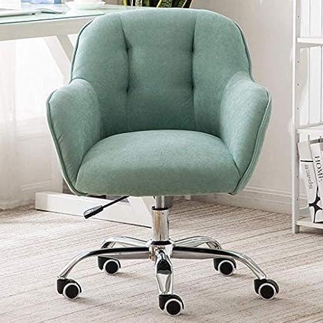 Elegante silla oficina, silla giratoria Silla de salón de terciopelo | Silla de escritorio minimalista elegante para sala de estar | Cómoda silla de comedor | Silla giratoria para estudios nórdicos Es
