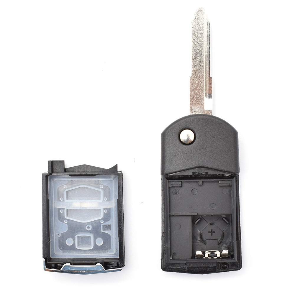 2 Buttons Key Remote Key Shell For Mazda Demio 2 3 5 6 M2 M3 M5 M6 CX7 CX9 RX8 MX5 MPV Fob Case Smart Car Key Replacement Repair Kit Blank Key Blade