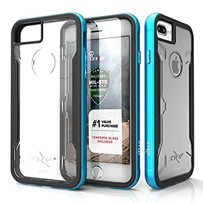 iPhone 7 Plus Case, Zizo [Shock Series] w/ FREE [iPhone 7 Plus Screen Protector] Crystal Clear [Military Grade Drop Tested] Metal Bumper iPhone 7 Plus