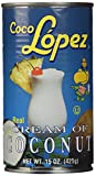 Coco Lopez Cream Coconut, 15-Ounce Cans (Pack of 6)