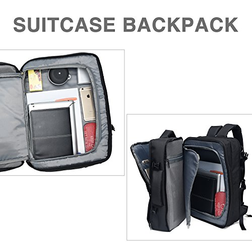 Crospack 35L Carry on Backpack Flight Approved Compression Travel Pack Cabin Bag Duffel Hiking Backpack Water-resistant Camping Backpack Large Capacity Laptop Backpac Black by Syntrific (Image #1)