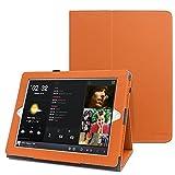 Apple iPad 2/3/4 Case - iPad 2 smart case ,Leafbook Folio Stand Smart Case for iPad 2 with Retina Display (iPad 4th generation case), the new iPad 3 & iPad 2 (Automatic Wake/Sleep Feature),Orange