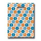 Practicon 11096117 Dental Dots Scatterprint Bag, 9'' x 12'' (Pack of 100)