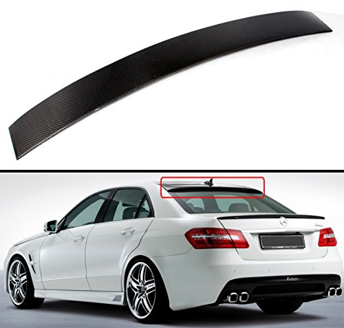 Cuztom Tuning Fits for 2010-2016 Mercedes Benz W212 E-Class & E63 Sedan Carbon Fiber Rear Window Roof Spoiler Wing