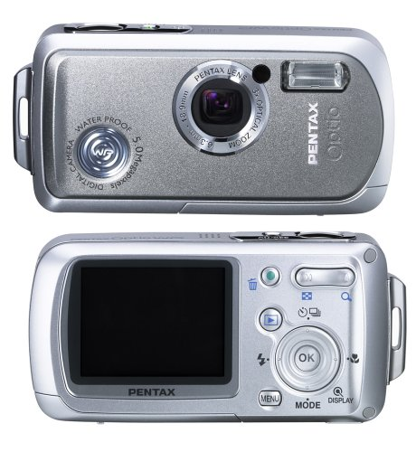 Pentax Optio WP 5MP Waterproof Digital Camera with 3x Optical Zoom Pentax Waterproof Cameras