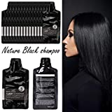 Alonea Hair Color Black, Lasting Practical Gray Root Cover Up Visualsource Natural Black Shampoo (Black)