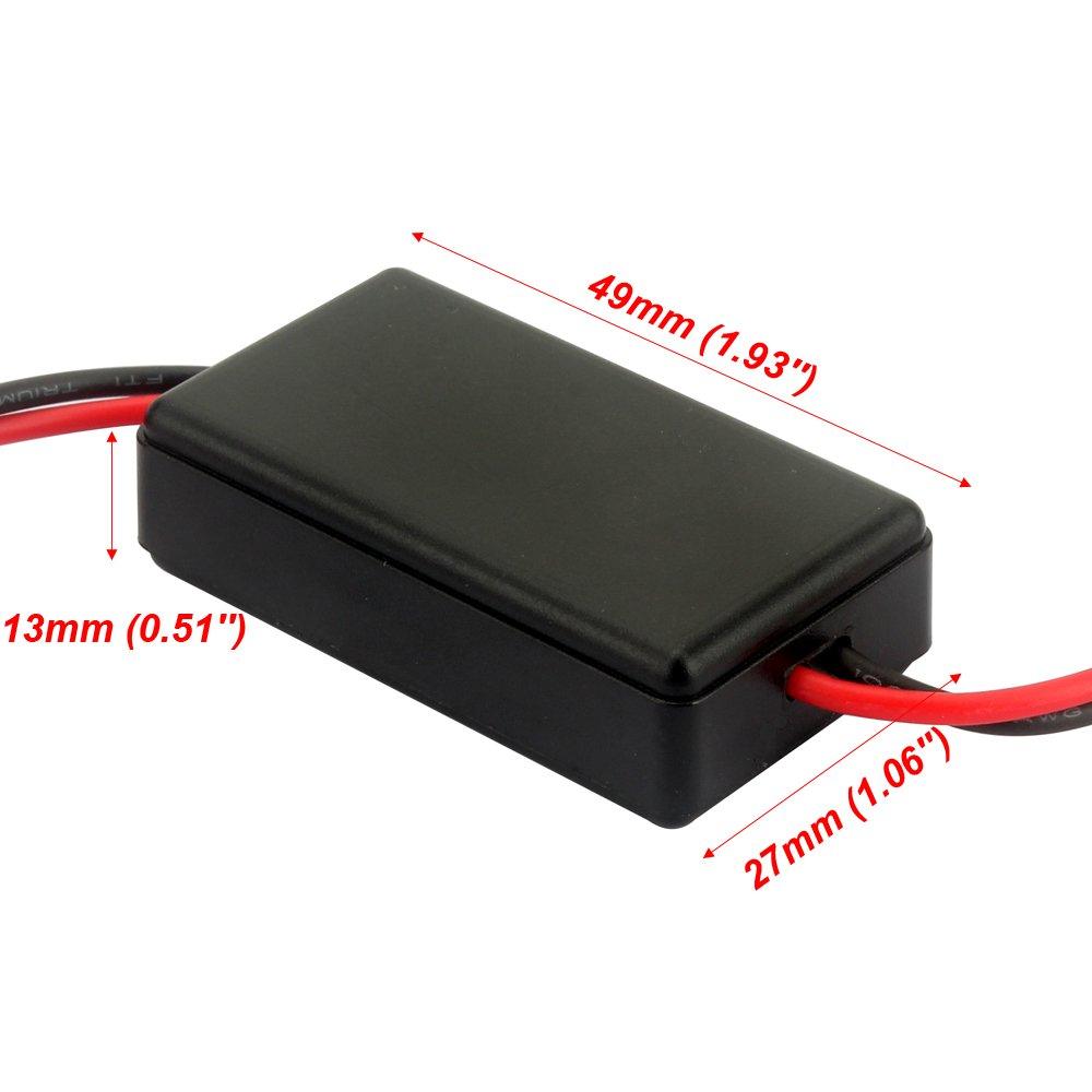 SENZEAL Flash Strobe Controller GS-100A Modulo lampeggiatore freno per auto moto LED stop luce freno 12-16V nero