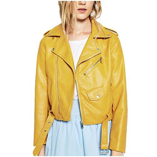 Yellow Leather Jacket - 8