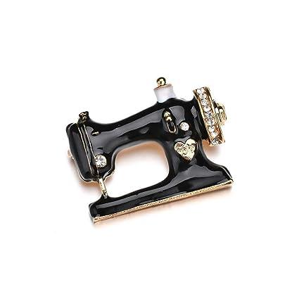 Yarmy Broches para Ropa Mujer Moda Goteo Aceite Broche de la máquina de Coser Pecho Pin