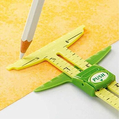 (YEQIN 5-in-1 Sliding Gauge Measuring Sewing Tool)