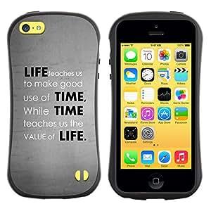 Be-Star Impreso Colorido Diseño Antichoque Caso Del iFace Primera Clase Tpu Carcasa Funda Case Cubierta Par Apple iPhone 5C ( Deep Message Value Of Life )