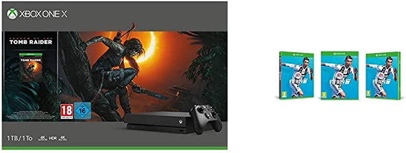 Pack Xbox One X 1 To - Shadow of The Tomb Raider + Fifa 19 ...