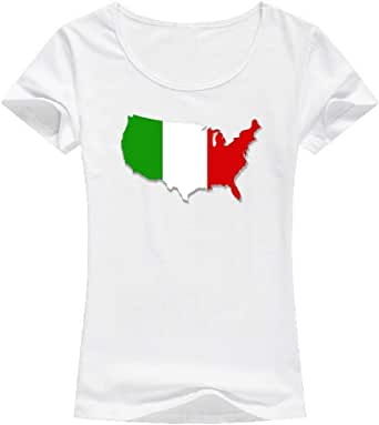 تيشيرت ايطاليا أبيض - للنساء