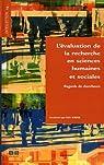 L'évaluation de la recherche en sciences humaines et sociales : Regards de chercheurs par Servais
