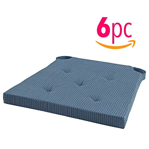 _IKEA Set of 6 Chair Cushion/Pad with soft foam filling will make even the most restless feel relaxed at the table. Several colors to choose from. (Blue)