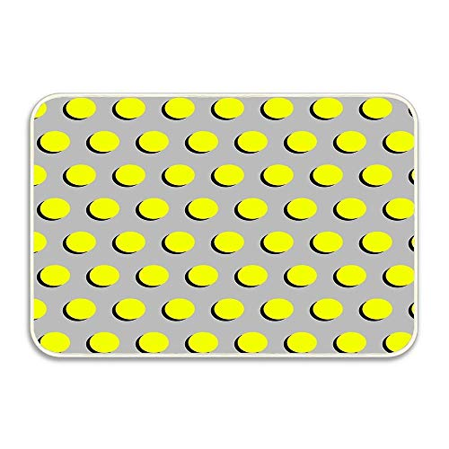 Ptrfedss Clementine - Dots Classic Fluro Neon Bright Summer Pattern Cell Phone Case Door Mat Indoors Watercolor Painting Style,Door Mat for Inside Bathroom Mat Non Slip Backing, 16x24 ()