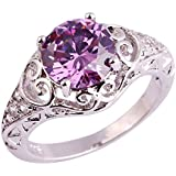 Beautiful Purple Gems Amethyst Gemstone Silver Ring Size 6 7 8 9 10 11 12 13#by pimchanok shop (9, #999)