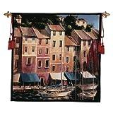 Design Toscano Portofino Waterfront Tapestry, Full Color