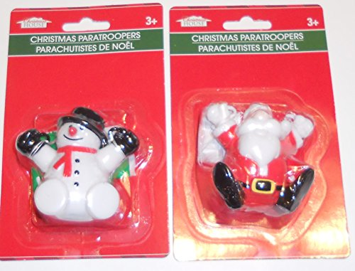 Christmas Paratroopers (Santa and Snowman) Set of 2 (Paratrooper Set)