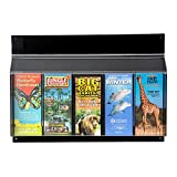 Source One Acrylic Black Outdoor Trifold Brochure Holder, Multiple Sizes Available (1 Pack, 5 Pocket)