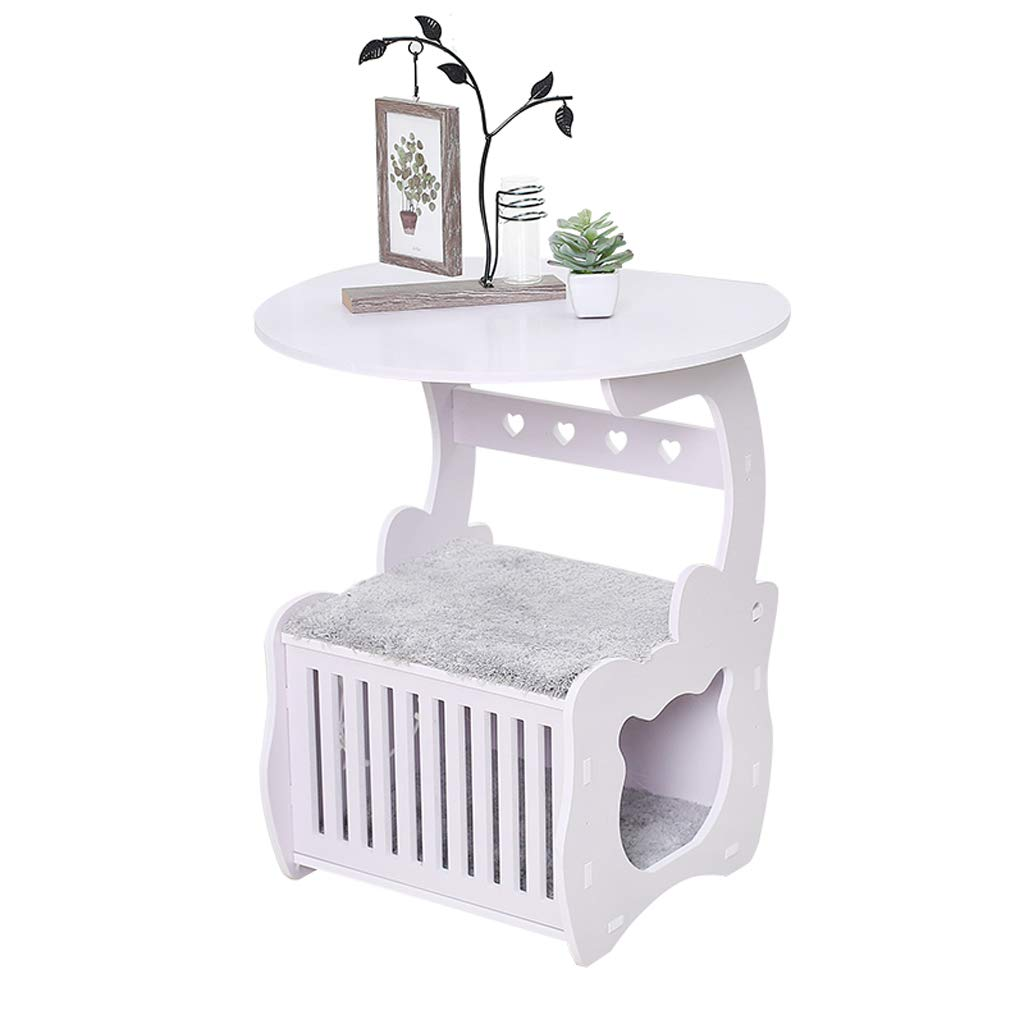 LFpet supplies Semienclosed Pet Bed Four Seasons Universal Pet Supplies Bedside Table Round Dog House Cat Litter