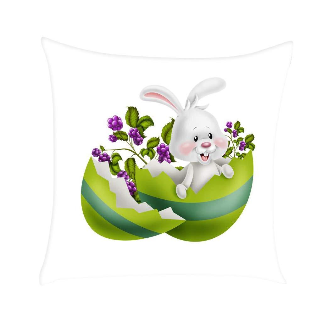 NPRADLA Cojín Fundas Conejo de Pascua Imprimir Funda de ...