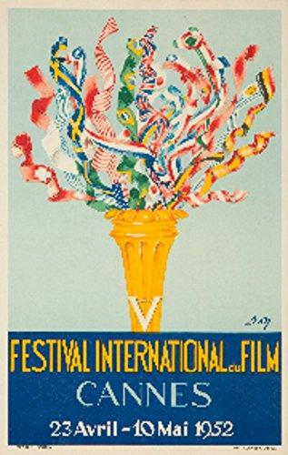 Cannes Film Festival 1952 (artist: Don) France c. 1950 – Vintage Advertisement (9×12 Fine Art Print, Home Wall Decor Artwork Poster)
