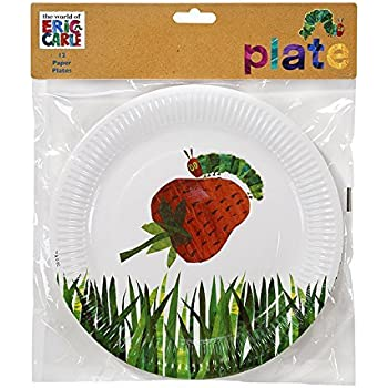 Talking Tables The Very Hungry Caterpillar Kids Birthday Paper Plate (24 Pack) 11 Green  sc 1 st  Amazon.com & Amazon.com: Hungry Caterpillar Paper Party Plates: Kitchen u0026 Dining