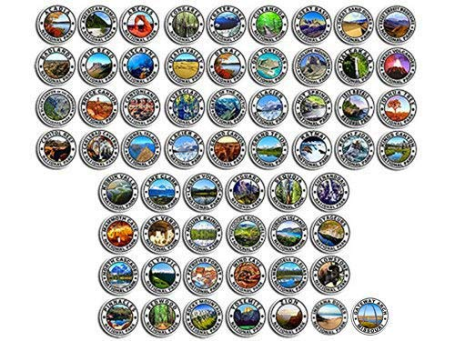American Vinyl Sheet of 61: 2.5 inch Round National Park Stickers (Indiana Dunes & Gateway rv np Set)