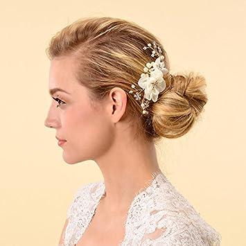 Amazon Com Remedios Bridal Hair Flower Side Comb Barrette
