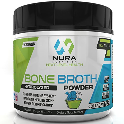 Healthy Digestive System (Bone Broth Protein Powder, Grass Fed Beef, Non GMO, Paleo and Keto Friendly, Hydrolyzed, 20 Servings - Gluten Free - Great for Collagen, Weight Loss, Digestive System, Healthy Hair & Skin)
