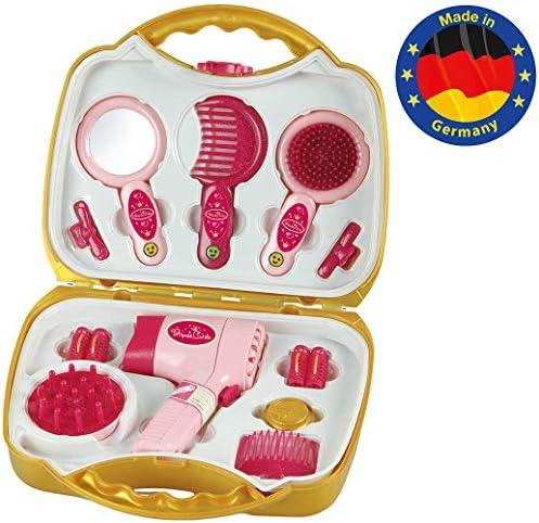 Theo Klein 5293 - Princess Coralie Frisierkoffer mit elektrischem Fön, Spielzeug