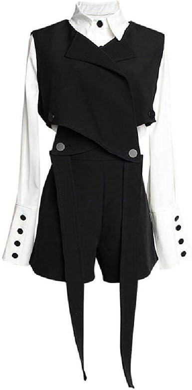 Mujeres High Street Black Vendaje Chaleco Camisa Blanca ...