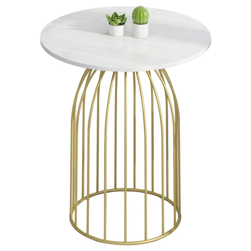 HANSHAN サイドテーブル コーヒーテーブル大理石テーブル+メタルフレームモダンリビングルームソファサイドテーブルベッドルームベッドサイドテーブル2サイズ(ゴールド) 多機能 (サイズ さいず : 60*70cm) B07Q5MC3ZH  60*70cm