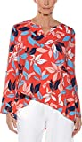 Coolibar UPF 50+ Women's Santa Barbara Tunic Top - Sun Protective (3X- Coral Tropical Island)
