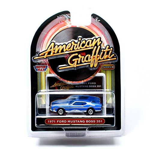 American Graffiti 1971 Ford Mustang BOSS 351 Series II 2007 Motor Max 1:64 Scale Die-Cast Collection Vehicle
