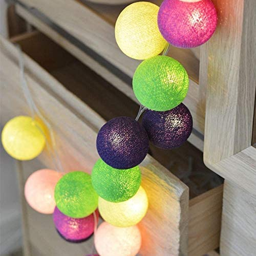 New Cotton Garland Balls Batterie USB Weihnachten Hochzeit Kinder Bett Dekor Geburtstagsfeier LED Lichterketten Fee Geschenke-B-Summer_6M40LEDs_Battery