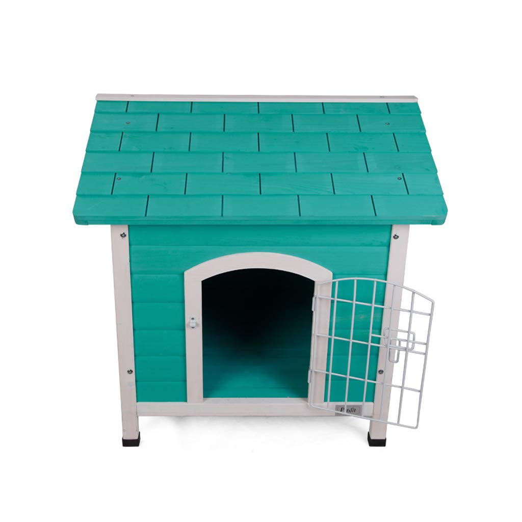 GREEN JIANXIN Pet Bed, Closed Cat Litter, Dog House, Fir, Suitable for Cats and Small Dogs, Suitable for All Seasons (color   Green)