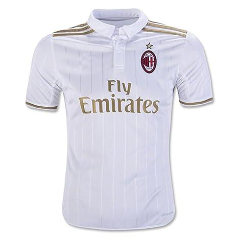 2016 2017 AC Milan camiseta de Diy nombre y número de fútbol Fútbol Jersey de flores