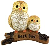 "Cheap Top Collection Miniature Fairy Garden and Terrarium Owl with Baby ""Best Dad"" Fathers Gift"