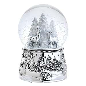 Reed & Barton 4065 Alpine Forest Snow Globe, 6-Inch, Plays Silent Night